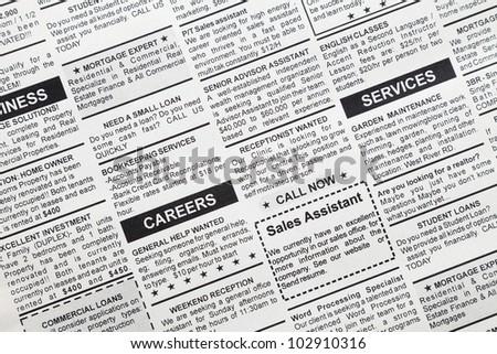 Free Photos Job Ad In Newspaper Avopix