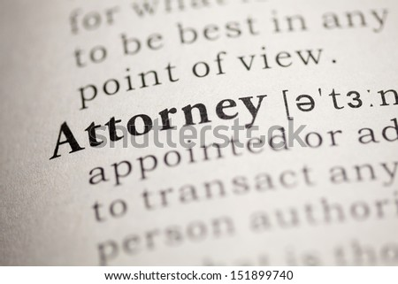 Fake Dictionary, Dictionary definition of the word Attorney.