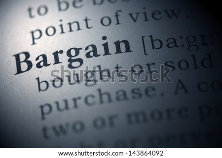 Fake Dictionary, Dictionary definition of the word Bargain.