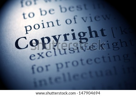Fake Dictionary, Dictionary definition of the word Copyright.
