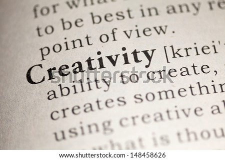 Fake Dictionary, Dictionary definition of the word Creativity.