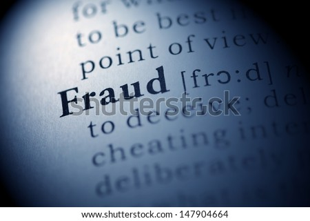 Fake Dictionary, Dictionary definition of the word Fraud.