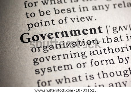 Fake Dictionary, Dictionary definition of the word government.