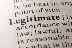 Fake Dictionary, Dictionary definition of the word legitimate