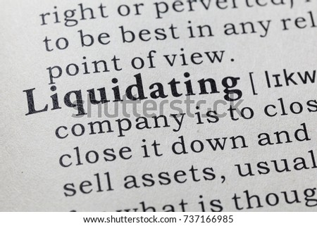 Self liquidating offer definition dictionary