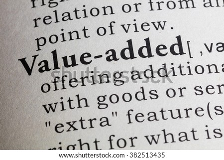 Fake Dictionary, Dictionary definition of value-added.