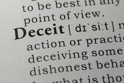 Fake Dictionary, Dictionary definition of word Deceit.
