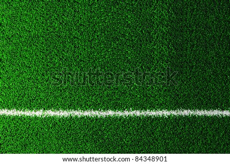 fake grass and line used on sports fields for soccer, baseball, golf and football