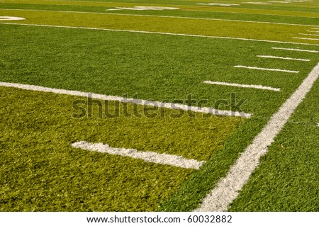 Fake Grass Football Field Sideline with Hash Marks
