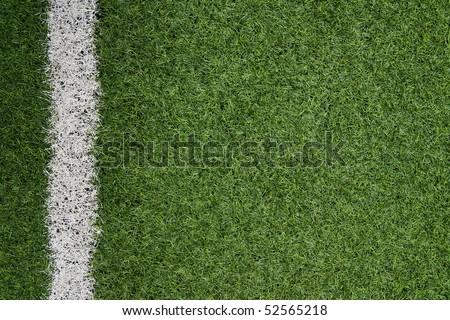 Fake grass soccer field