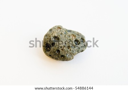 fake meteorite on white background