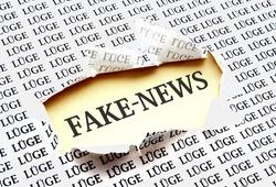 fake News - alternative facts - concept