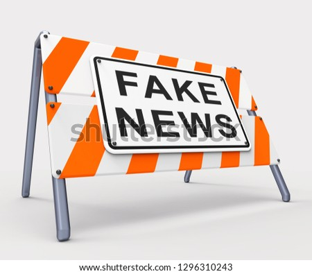 Fake News Icon Sign Means Misinformation Or Disinformation. Online Hoax Or Misleading Information  - 3d Illustration