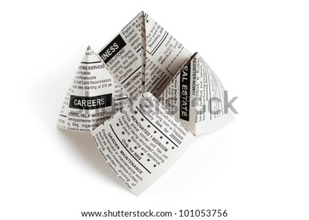 Fake Newspaper, Fortune Teller business concept.
