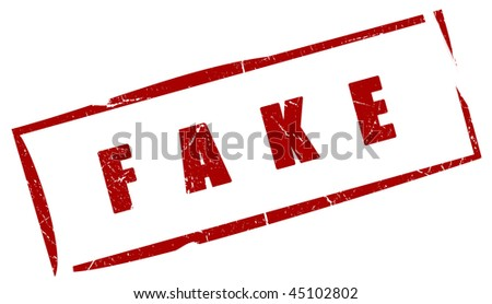 Fake red stamp - stock photo