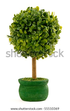 fake tree on a pot
