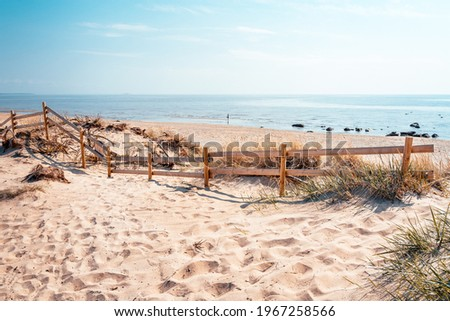 Falkenberg beach situated on the Swedish west coast is popular during summer season. Foto stock ©