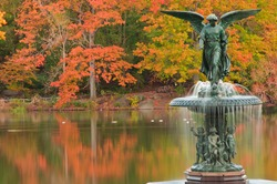 Fall at Bethesda Fountain in Central Park. New York City