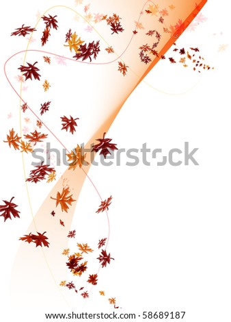Fall background with leaf fall