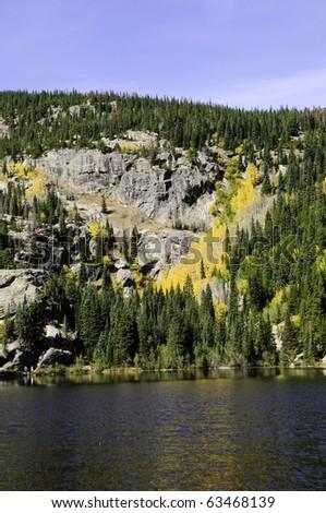 Fall colors at Bear Lake Rocky mountain national park
