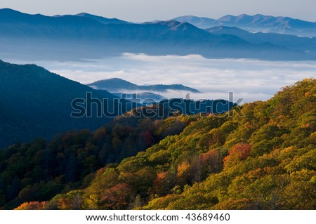 Fall colors in the Smoky Mountains National Park