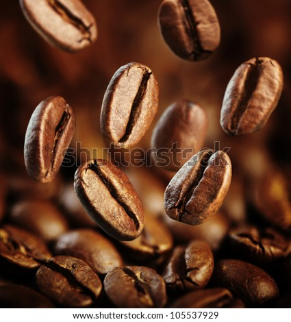 fall fresh coffee beans background