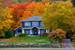 Fall House at Port Sydney, Ontario, Canada