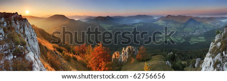 Fall in Slovakia mountain Fatras