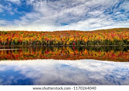 Fall lake reflection