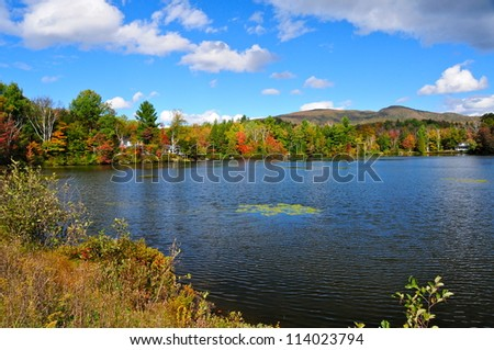 Fall Landscape in the Eastern Township, Quebec, Canada
