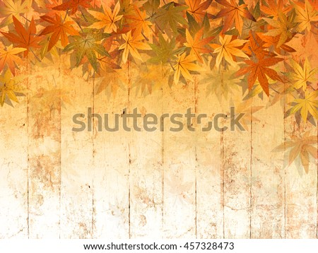 Fall leaf border background - abstract thanksgiving pattern