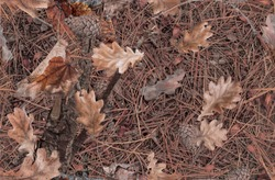Fall leaves on the bush. Ideal for hunting and military purposes. Realistic camouflage seamless