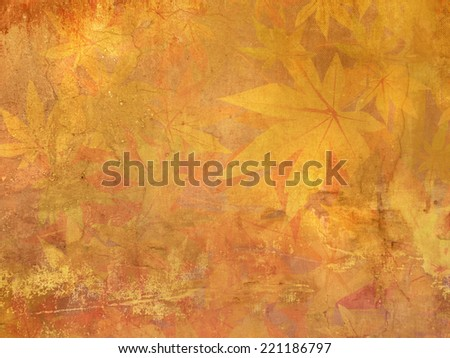 Fall leaves pattern - vintage autumn background