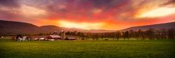 Fall Pennsylvania Barns at sunset