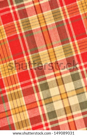 Fall plaid background texture