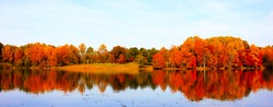 Fall Scenery at Seneca Park, Germantown, Maryland, USA