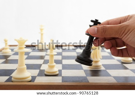 Fallen king pieces surrounded by the other color chess pieces #90765128