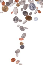 Falling American Coins