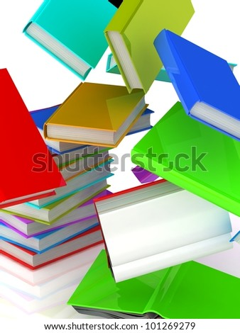 Falling books from a column
