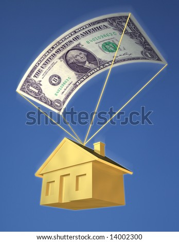 FALLING HOME PRICES - stock photo