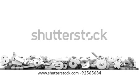 falling letters isolated on white background