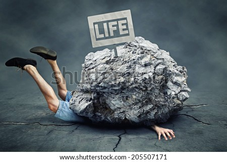 Falling Rocks Stockfoto ©