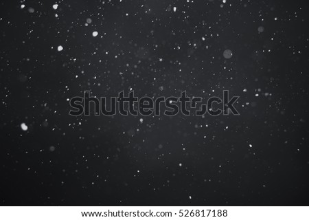 Falling snow on black background #526817188