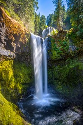 Falls Creek Falls in Gifford Pinchot National Forest, Washington