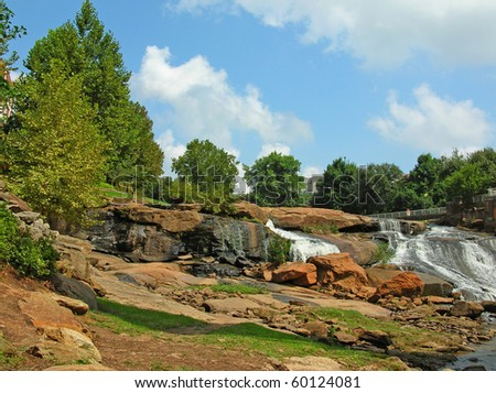 Falls park in greenville sc stock photo 60124081 for Landscaping rocks greenville sc