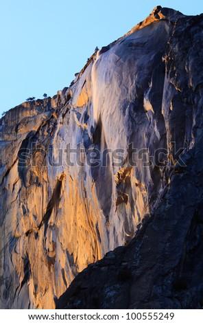 Falls the Horse tail. Yosemite National Park.