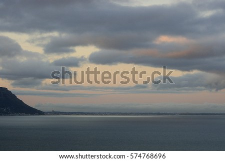 False Bay at sunset, South Africa, Atlantic Ocean #574768696