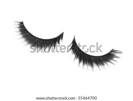 False eyelashes isolated on white background