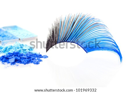 false eyelashes, on white background