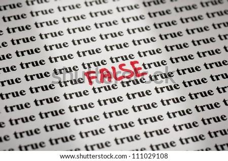False in true
